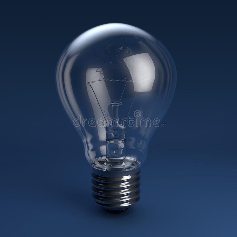 Lumière d'ampoule d'idées et d'inspiration photos libres de droits