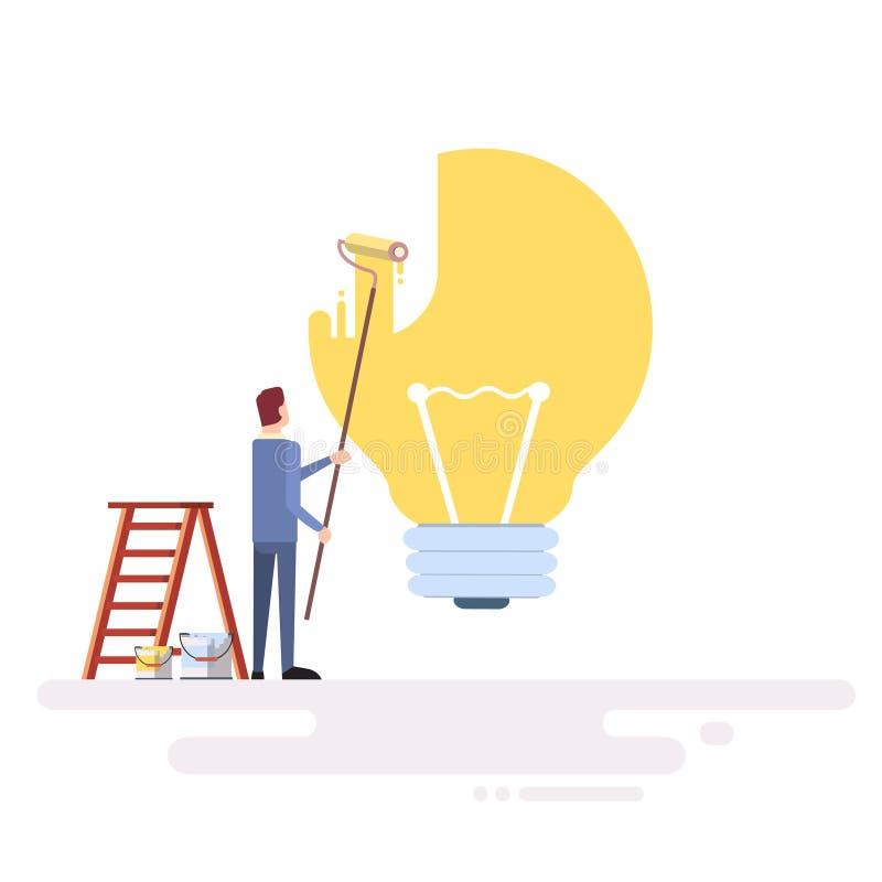 Download Lumière D'aspiration D'homme D'affaires Illustration de Vecteur - Illustration du peinture, marché: 77158622