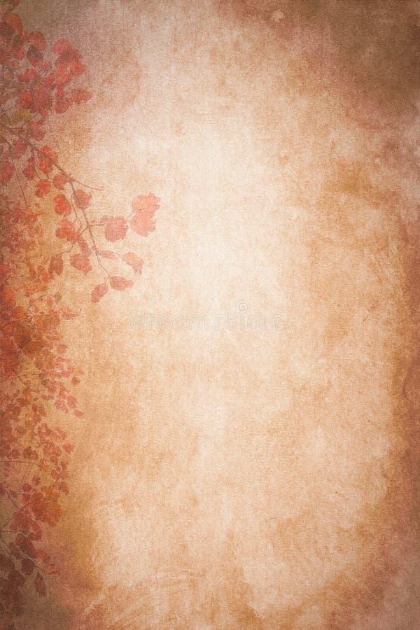 Lumière d'Autumn Leaves Paper Texture Background photographie stock