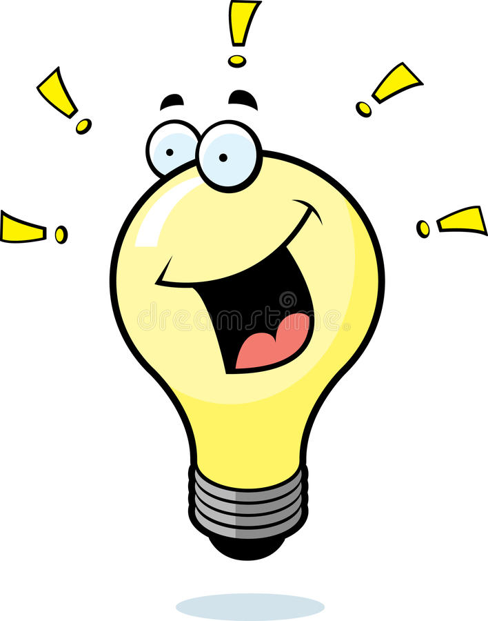 lumière d'idée d'ampoule illustration de vecteur