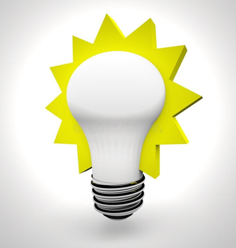 lumière d'idée d'ampoule illustration stock