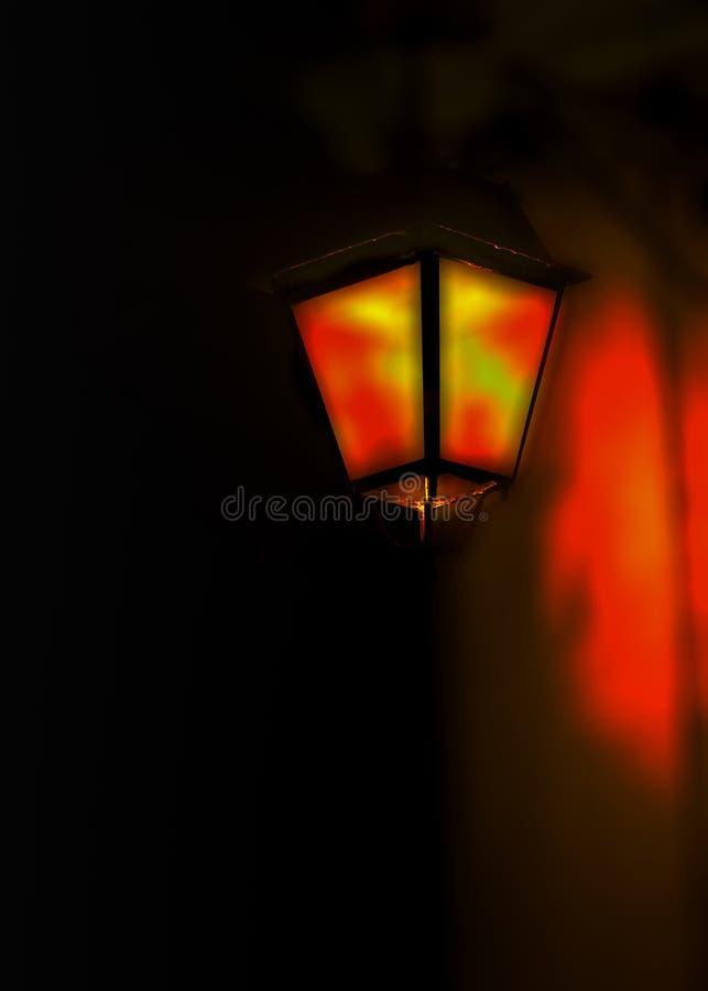 Lumière d'un candélabre images libres de droits