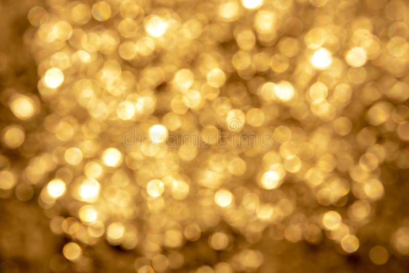 Lumière de Bokeh d'or image stock