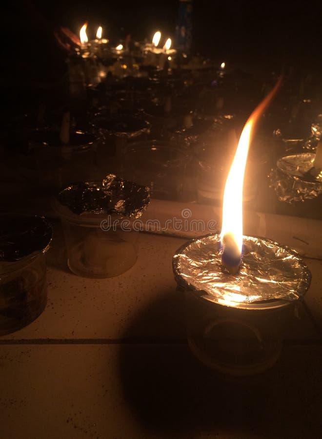 Lumière de bougie photographie stock