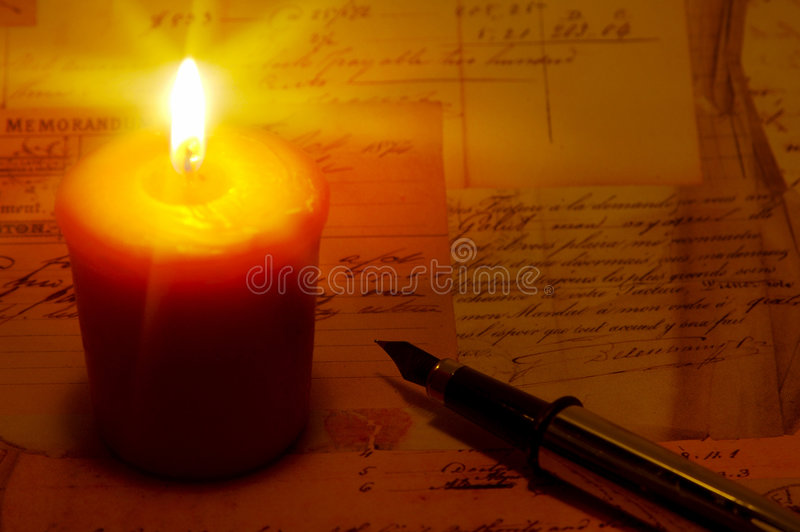 Lumière de bougie images stock