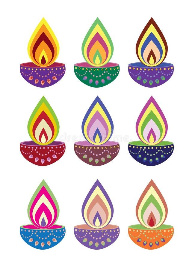 Lumière de bougie de Diwali illustration de vecteur