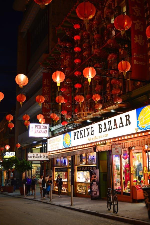 Lumière de Chinatown photographie stock