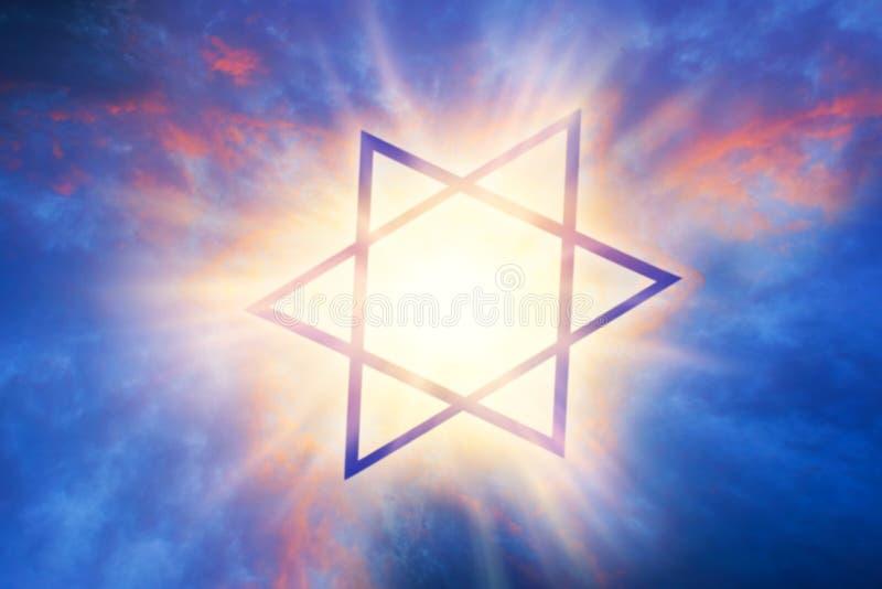 Lumière de ciel Fond de religion illustration stock