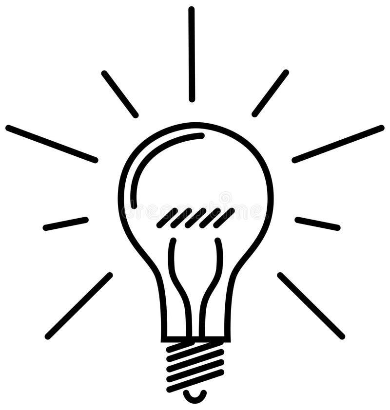 lumière de classique d'ampoule illustration libre de droits