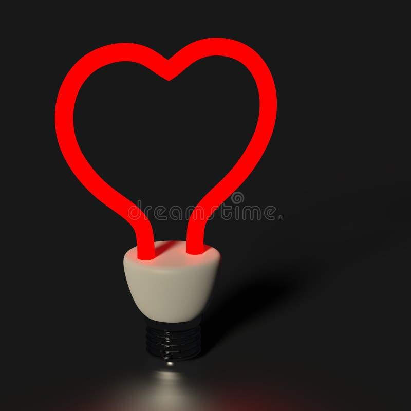 Lumière de coeur images stock