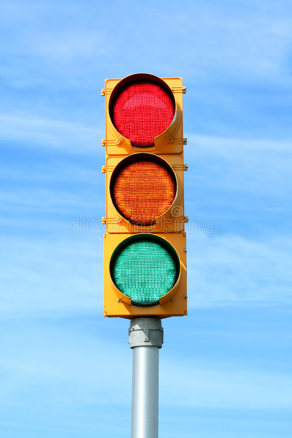 Lumière de feux de signalisation image libre de droits