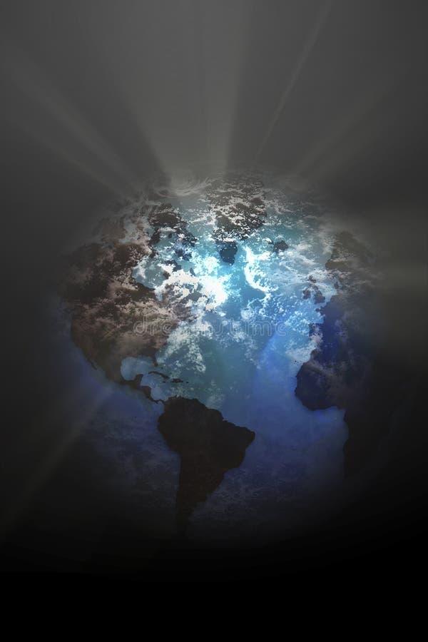 Lumière de globe de la terre illustration de vecteur