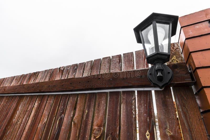 Lumière de jardin de rue photos stock