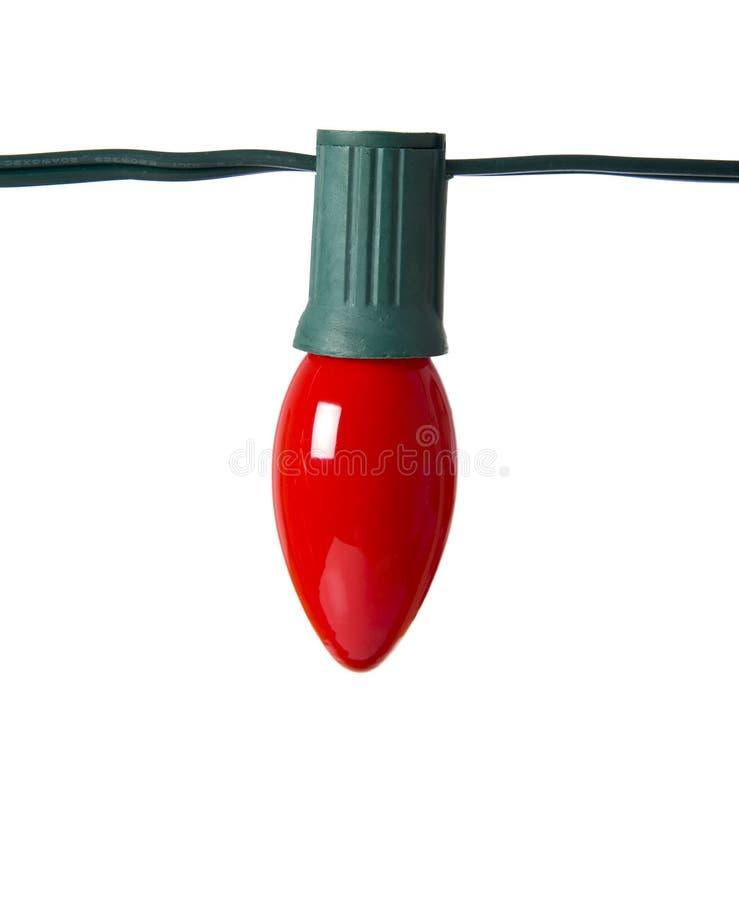 Lumière de Noël rouge sur le blanc images stock