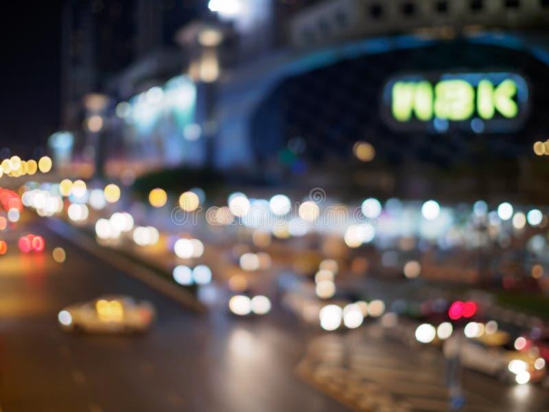 Lumière de nuit de Bangkok photographie stock