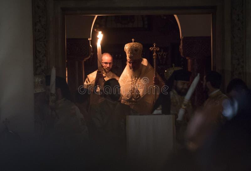 Lumière de Pâques à Bucarest photographie stock