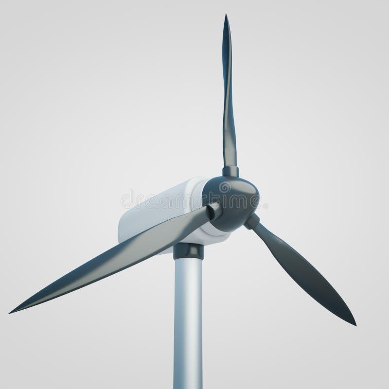 Lumière de plan rapproché de générateur de vent illustration libre de droits