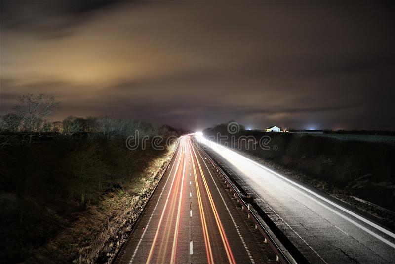 Lumière de route images stock