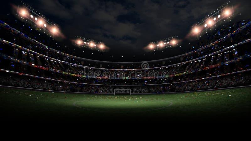 Lumière de stade la nuit images stock