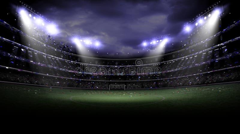Lumière de stade la nuit photos stock