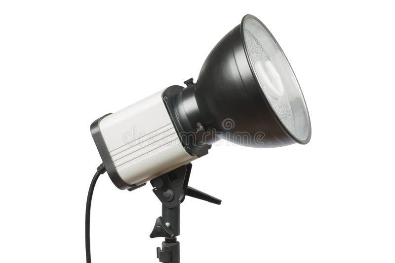 Lumière de studio d'isolement sur le fond blanc photographie stock libre de droits