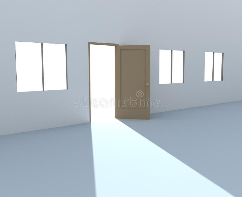 lumière de trappe lumineuse ouverte illustration stock