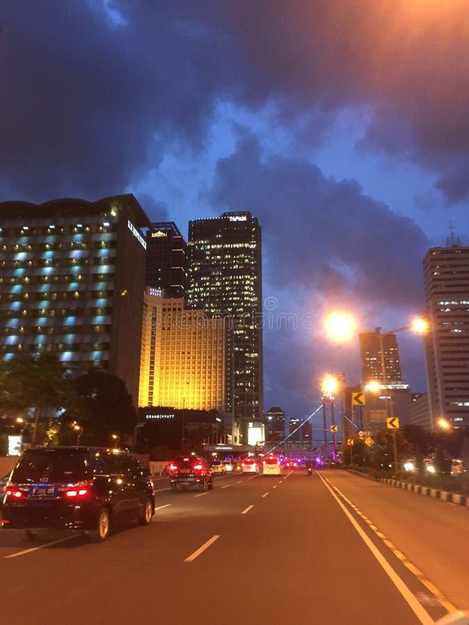 Lumière de ville image libre de droits