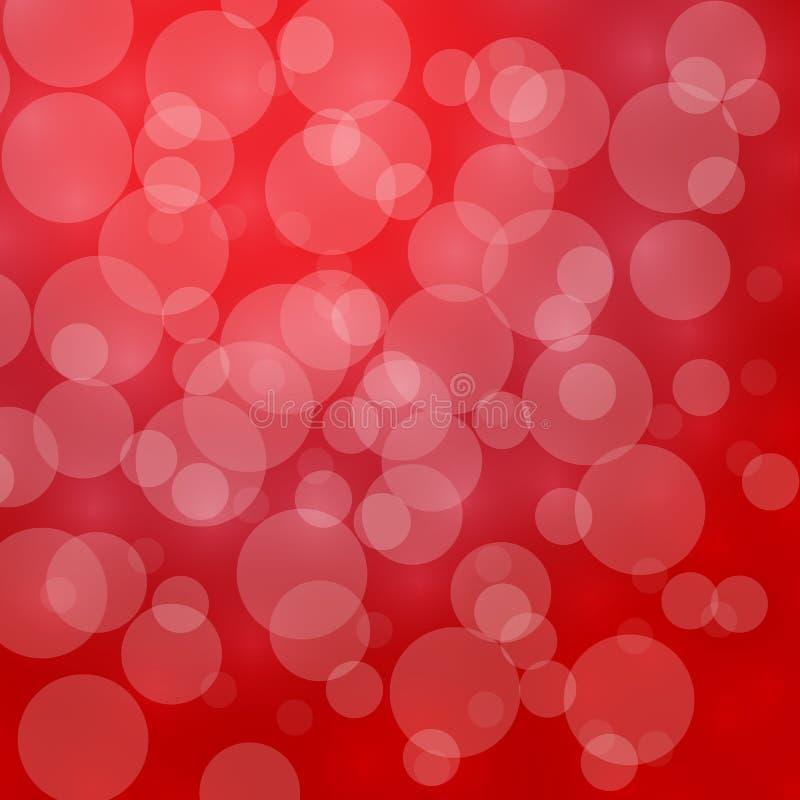 Lumière Defocused rouge, lumières de clignotement, abrégé sur vecteur avec le bok photographie stock libre de droits