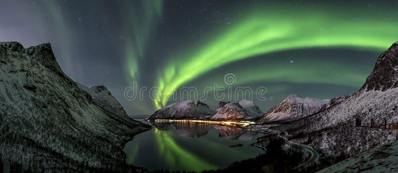 Lumière du nord image stock