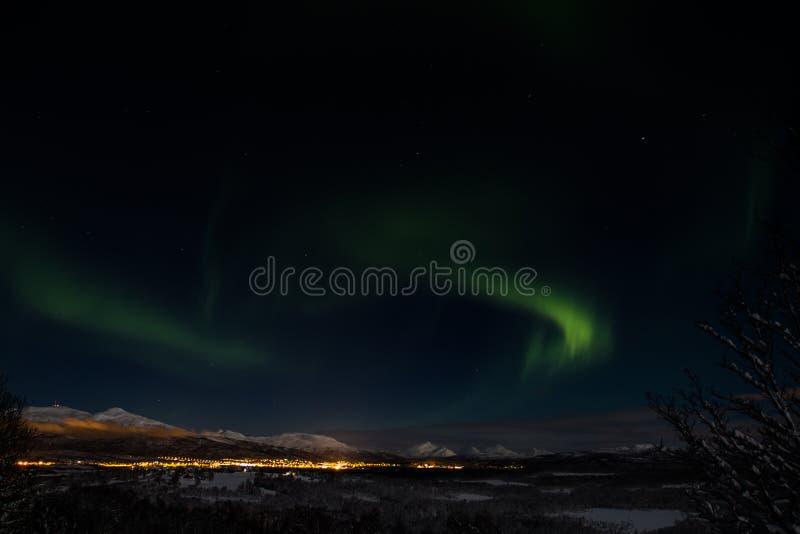 Lumière du nord fantastique photos stock