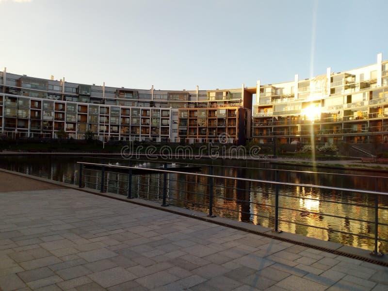 Lumière du soleil dans la ville image libre de droits
