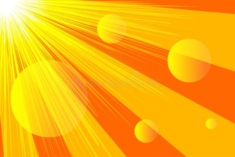 Lumière du soleil de bannière, rayons illustration de vecteur