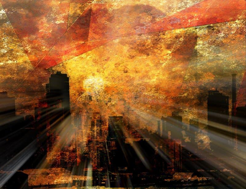 Lumière du soleil de NYC illustration de vecteur