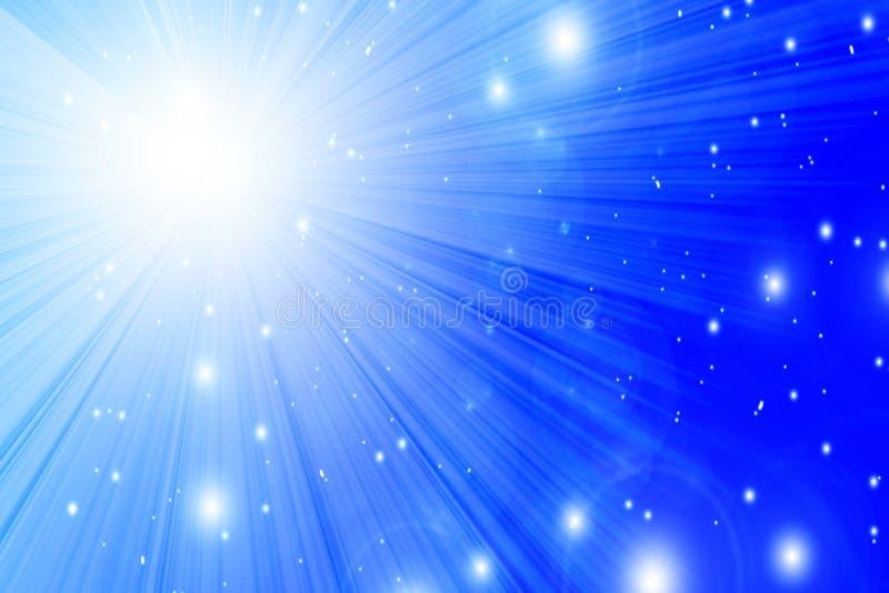 Lumière du soleil en ciel bleu clair illustration de vecteur