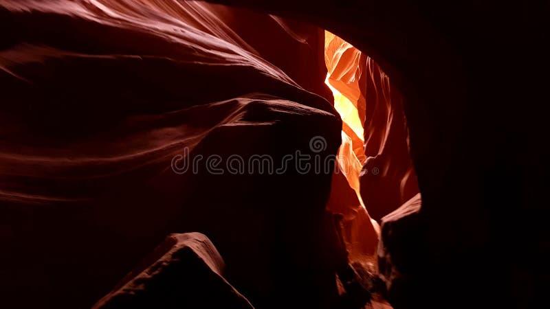 Lumière en canyon d'antilope, territoire de Navajo, Arizona images stock