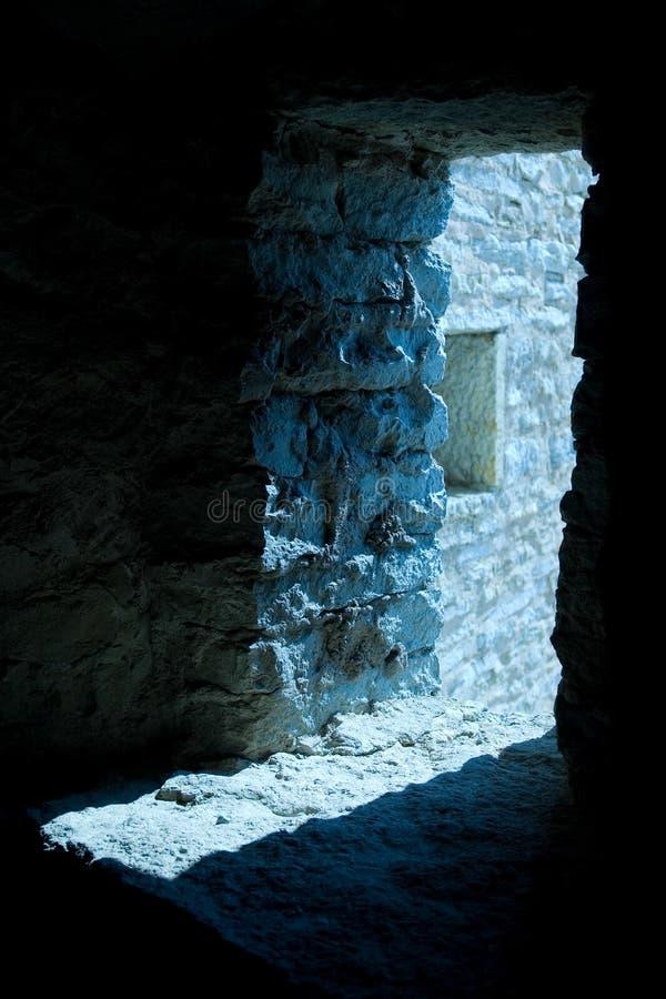 Lumière en porte de forteresse image stock