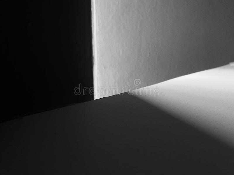 Lumière et ombre photographie stock
