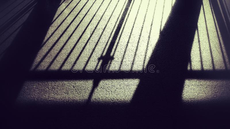 Lumière et ombre images libres de droits