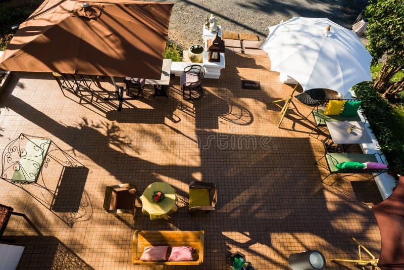Lumière et ombre de restaurant photos stock