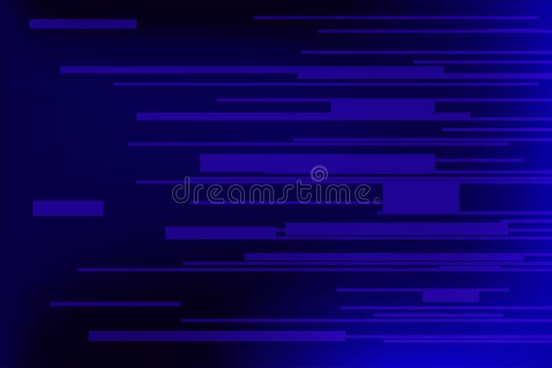 Lumière et rayures bleues de vitesse illustration stock
