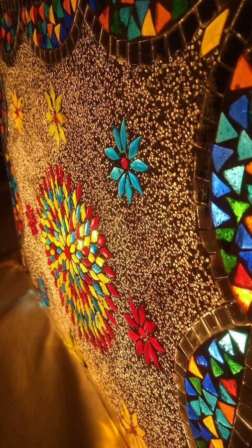 Lumière fantastique de style arabe couleur or images stock