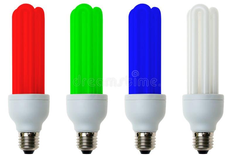 lumière fluorescente RVB d'ampoules photos stock