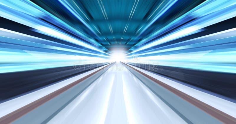 Lumière graissée dans le tunnel images stock