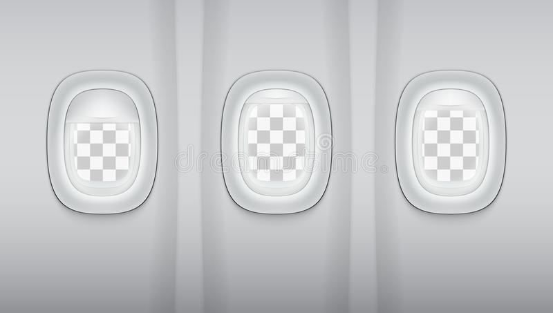 Lumière Gray Plane Windows de Reealistic illustration libre de droits
