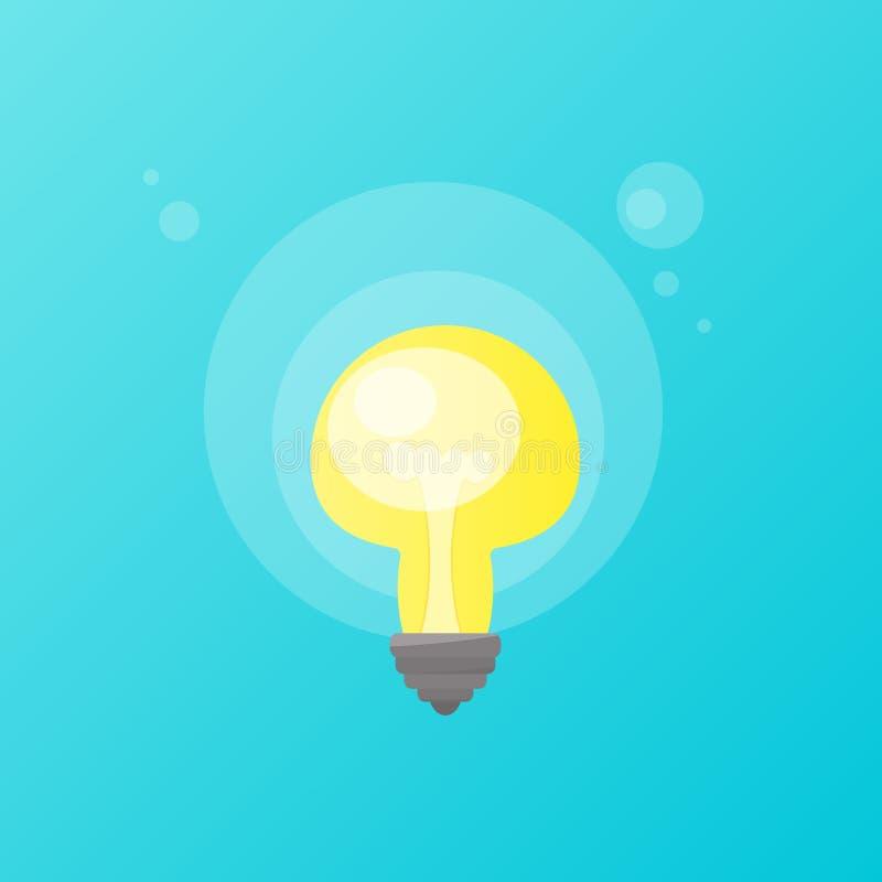 lumière incandescente d'ampoule illustration libre de droits