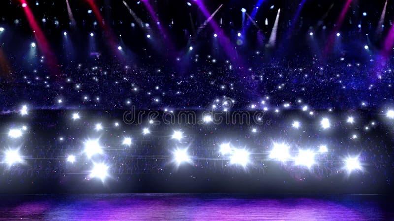 Lumière instantanée de concert