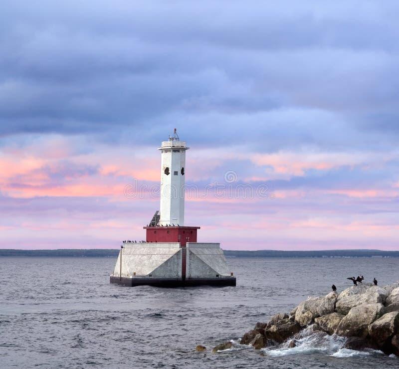 Lumière ronde de canalisation d'île photographie stock