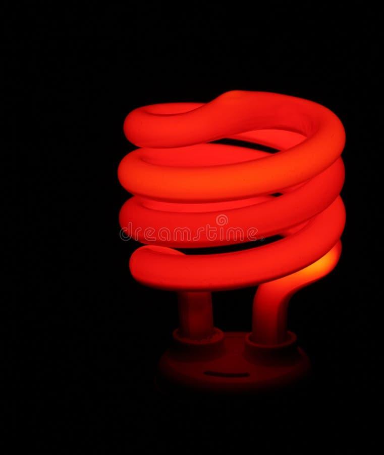 Lumière rouge d'épargnant d'argent images stock