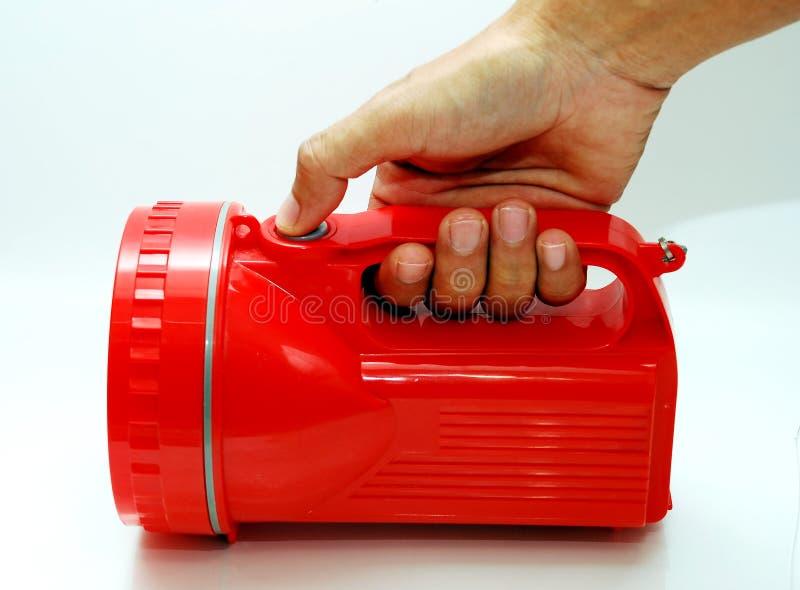 Lumière rouge de torche photographie stock libre de droits