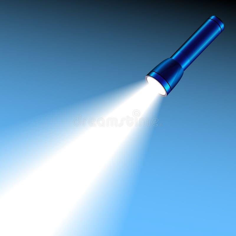 Lumière rougeoyante de torche de poche illustration de vecteur